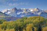 Wilson Peak in the Sneffels Mountain Range  Dallas Divide  Last Dollar Ranch Road  Colorado