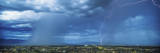 This Is an Electrical Storm with Rain over the City