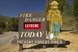 Extreme Fire Hazard Proclaims Smoky the Bear Near Lake Hughes California
