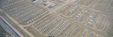 Aerial View of Bone Yard  F4 Fighter Aircraft at Montham Afb  Tucson  Arizona
