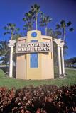 """Welcome to Miami Beach"" also known as South Beach  Miami Beach  Florida"