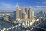 New York New York Hotel and Casino in Morning Light  Las Vegas  NV