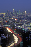 Hollywood Freeway and City View from Mulholland Drive  Los Angeles  California