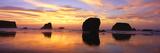Sea Stacks Rock Formations  Sunset at Bandon Beach  Oregon
