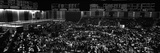 Grayscale Panoramic View of Chicago Mercantile Exchange