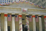 Federal Hall with Decorations on Liberty Weekend  New York City  NY