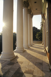 Columns on Building at University of Virginia Inspired by Thomas Jefferson  Charlottesville  VA