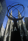 Atlas Statue in Front of St Patrick's Cathedral  New York City  NY