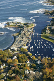Aerial View of Perkins Cove Near Portland  Maine
