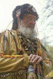 Mountain Man in Full Costume in Autumn  Waterloo  NJ