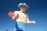 Big Cowboy Roadside Attraction  Route 84  ID