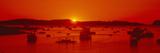 Red Sunrise at Lobster Village  Stonington  Maine