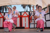 Thai Women Performing a Traditional Dance  Lotus Festival in Echo Park  Los Angeles  CA