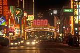 Neon Lights at Night in Reno  NV