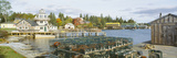 Lobster Village in Autumn  Southwest Harbor  Stonington  Maine