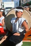 Young Member of the Drum Corp The 49th Nisei Week Parade in Little Tokyo  Los Angeles  CA