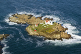 Aerial View of Nubble Lighthouse  Cape Neddick  Maine