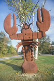 Metal Sculpture of a Lobster  Scenic Route 153  Nh