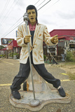 Replica of Elvis Presley Singing on the Road in the Southeast in GA