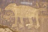 Petroglyph of a Bear  Newspaper Rock  Southern Ut