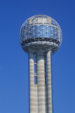 Detail of Reunion Tower in Dallas  Tx
