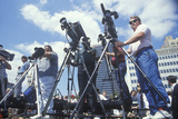 Photographers Covering the Clinton/Gore Presidential Campaign  Waco  Tx