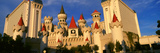 Panoramic View of the Excalibur Hotel and Casino  Las Vegas  Nv at Sunset