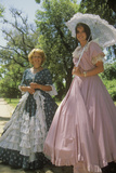 Women Dressed in Period Piece Costumes of the Old South  Charleston  Sc