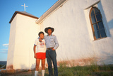 A Father and Son at a Church  NM