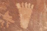 Petroglyph of a Human Foot from Atlati Rock  NV