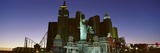 Panoramic View of New York New York Hotel with Statue of Liberty at Sunrise  Las Vegas  NV