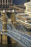 Roebling Suspension Bridge over the Ohio River  Cincinnati  Oh