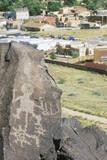 Ancient Petroglyph and Suburbs  Albuquerque  NM