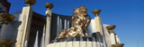 Panoramic View of Mgm Lion and Mgm Grand Hotel in Las Vegas  NV