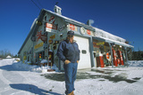 Antique Gas Station in Winter  VT