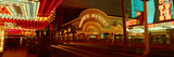 Panoramic View of Golden Nugget Casino and Neon Sign in Las Vegas  NV