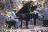 Jazz Pianist  Roger Kellaway  Performing at an Outdoor Festival  Ojai  CA