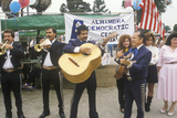 A Mariachi Band Performs for the 1992 Democratic CAmpaign  East Los Angeles  CA