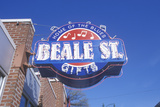 Neon Sign on Beale Street  Home of the Blues  Memphis  Tn