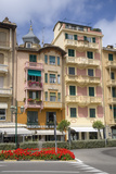 Colorful Buildings of Santa Margarita  the Italian Riviera  on the Mediterranean Sea  Italy  Europe