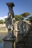 Statues of the Caryatides in the Canopus at Hadrian's Villa  Tivoli
