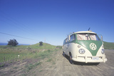 A Volkswagon Van Parked on the Roadside  CA