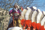 Native American on a Float in Macy's 50th Annual Thanksgiving Parade in New York City