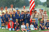Boy Scout and Cub Scout Troops at Veteran's National Cemetary  Los Angeles  CA