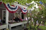 People Lunching at the Historic Colonial Inn  Concord  Ma  Memorial Day  2011
