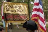 Flag for Concord Minutemen Revolutionary Reenactors  Memorial Day  2011  Concord  MA