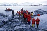 Ecological Tourists Landing at Paradise Harbor  Antarctica