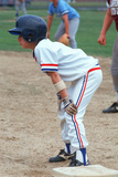A Little League Baseball Player at First Base  Hebron  CT