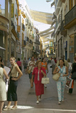 Women Shop in Old Section of City of Sevilla  Andalucia  Southern Spain