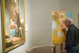 Man Copies Painting in Museum De Prado  Prado Museum  Madrid  Spain